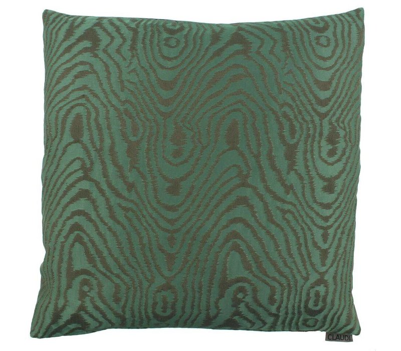 Throw pillow Mataya Color Dark Green