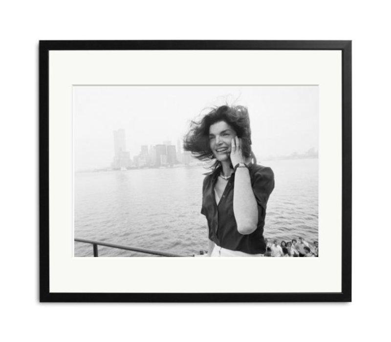zwart wit foto Jacqueline Kennedy Onassis