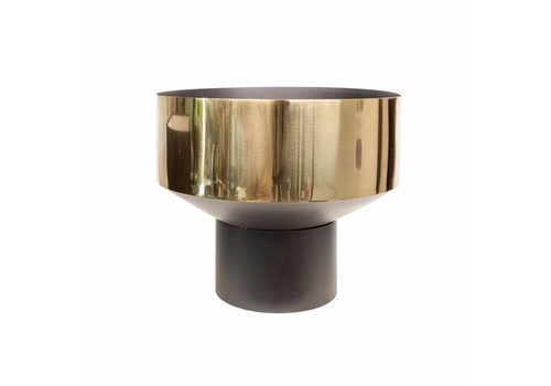 Dome Deco 'Bowl' vase gold/black - M