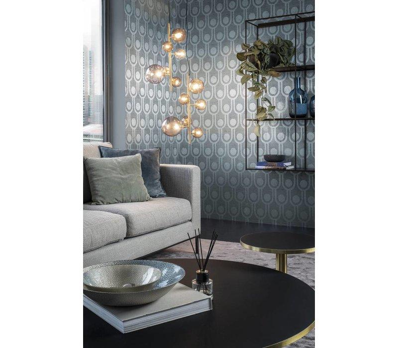 Hanglamp Pendant Metal Gold & Smoke Glass L36 x W32 x H170 cm