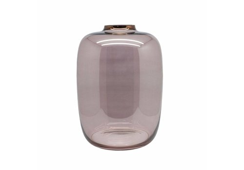Dome Deco Vase glass 'Pink Sprayed' - Small
