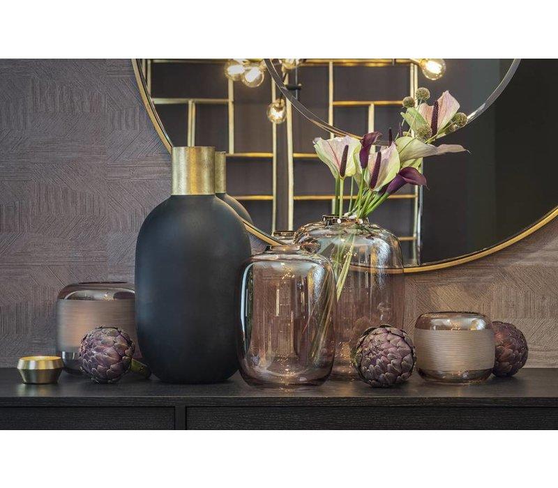 Vase glass 'Matt Black' - Medium H49 x D24.5 cm