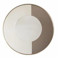 Ronde spiegel 'Gold & Bronze' heeft een diameter van 120cm