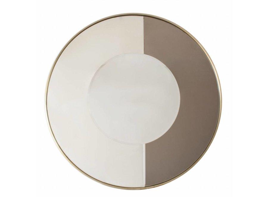 Runder Spiegel 'Gold & Bronze'