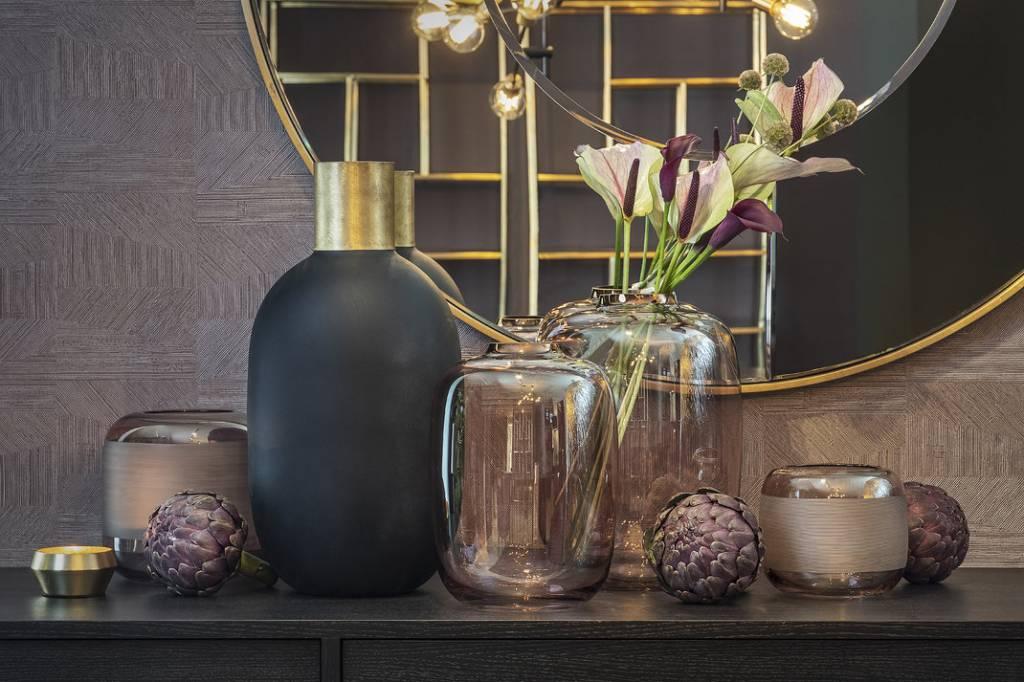 Runder spiegel bronze & gold wilhelmina designs