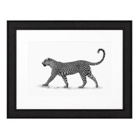 Print Leopard with broad frame