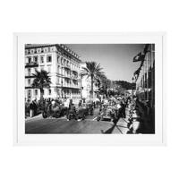 Print Grand Prix Automobile de Nice 1934, black/white