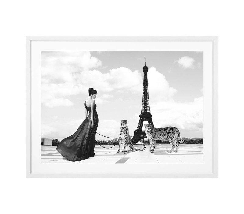 Print Trocadero View, zwart/wit