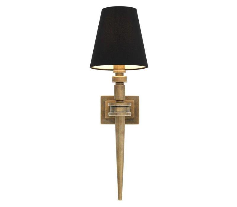 Wall Lamp Waterloo Single, Vintage Brass