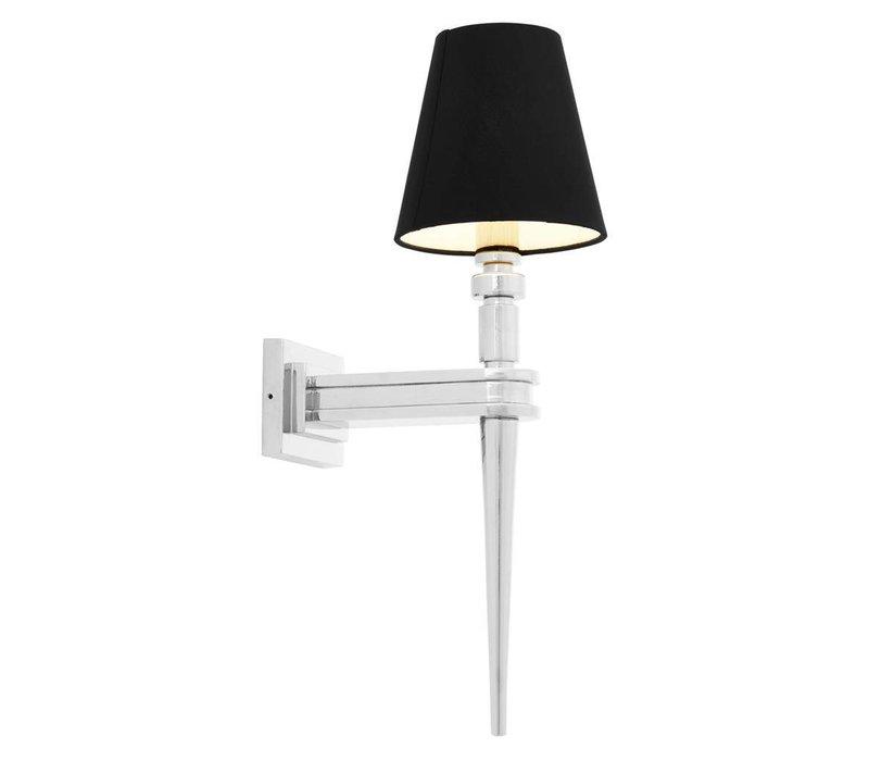 Wall Lamp Waterloo Single, Nickel Finish