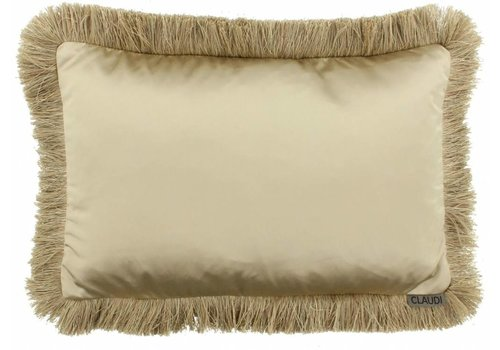 CLAUDI throw pillow Dafne Fringe Gold