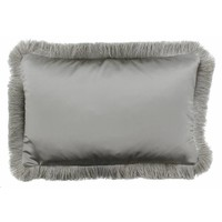 Throw pillow Dafne Taupe Fringe Silver