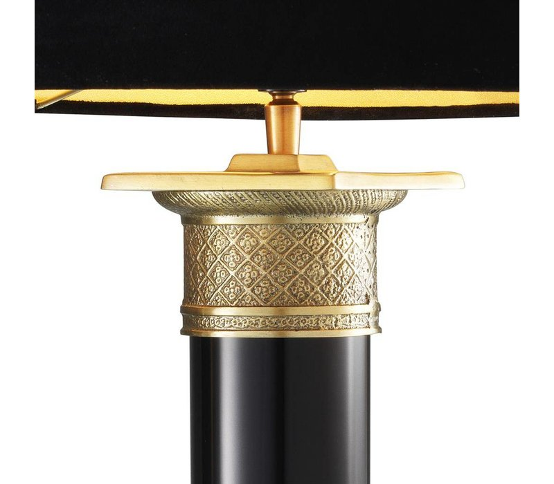 Tafellamp Monaco Black & Gold