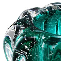 Vase Bowl Ducale, 'handmade' turquoise glass