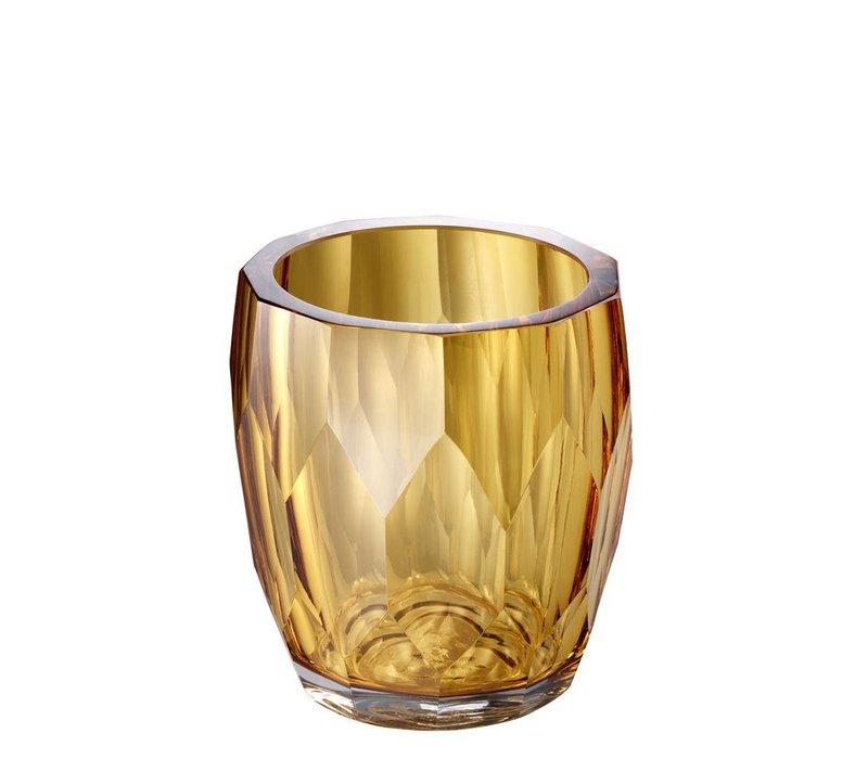Vase Marquis, 'handmade' yellow glass