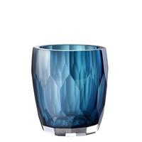 Vase Marquis, 'handmade' blue glass