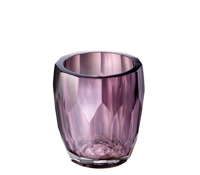 Vase Marquis, 'handmade' purple glass