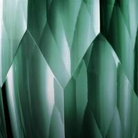 Vase Marquis, 'handmade' green glass