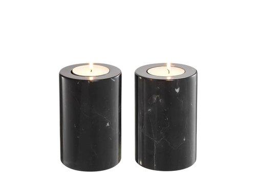 EICHHOLTZ Tealight Holder Tobor S - Black (2-er Set)