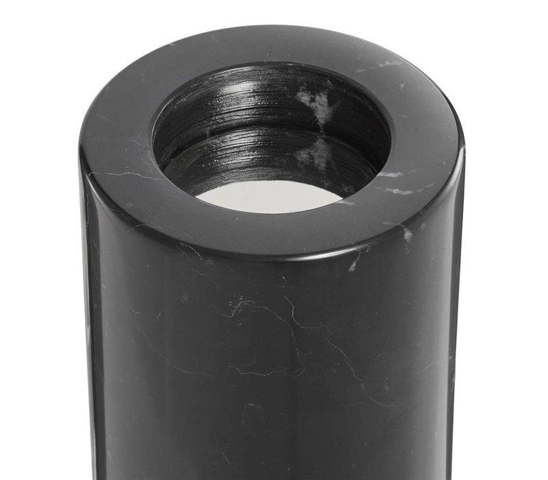 Tealight Holder Tobor S, black marble (2-er Set)