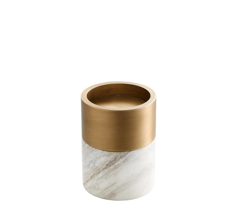 Candle Holder Sierra, with a brass ring