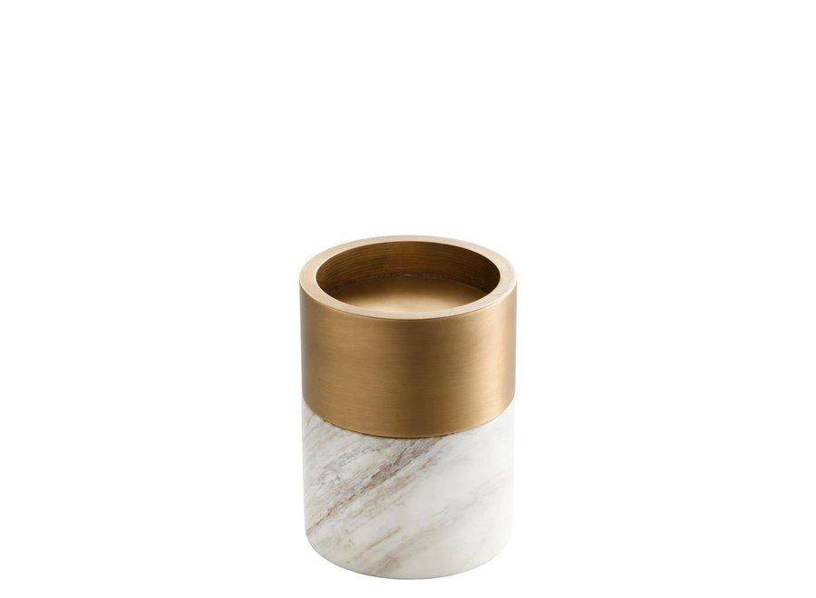 Candle Holder Sierra, met een ring van messing