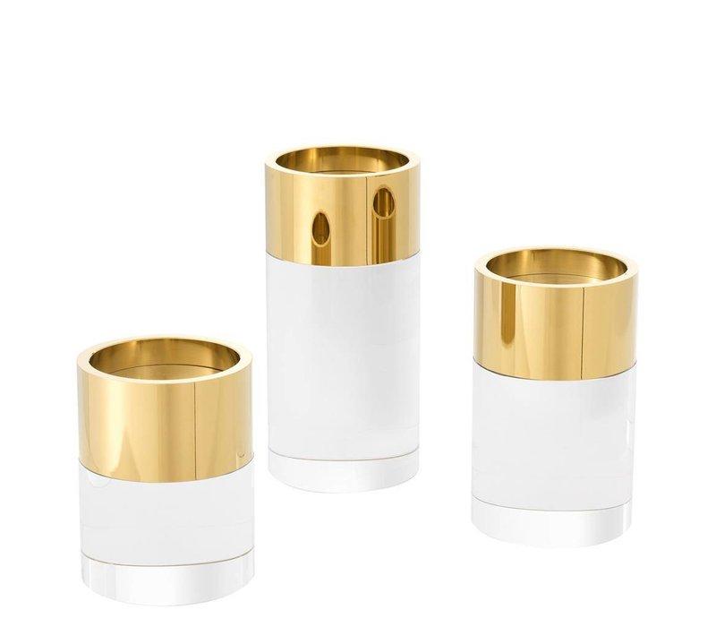 Candle Holder Sierra, met een ring van goud