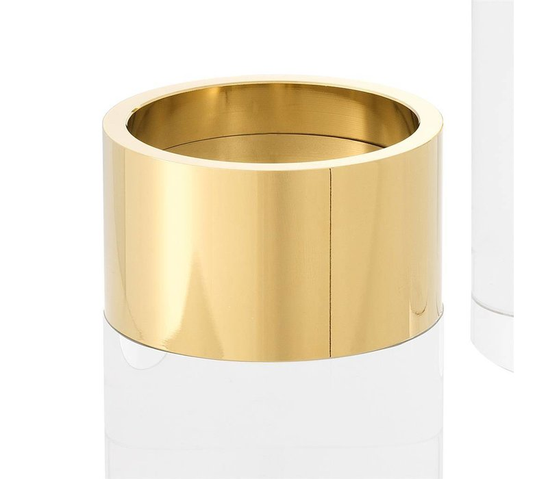 Candle Holder Sierra,  with a gold ring