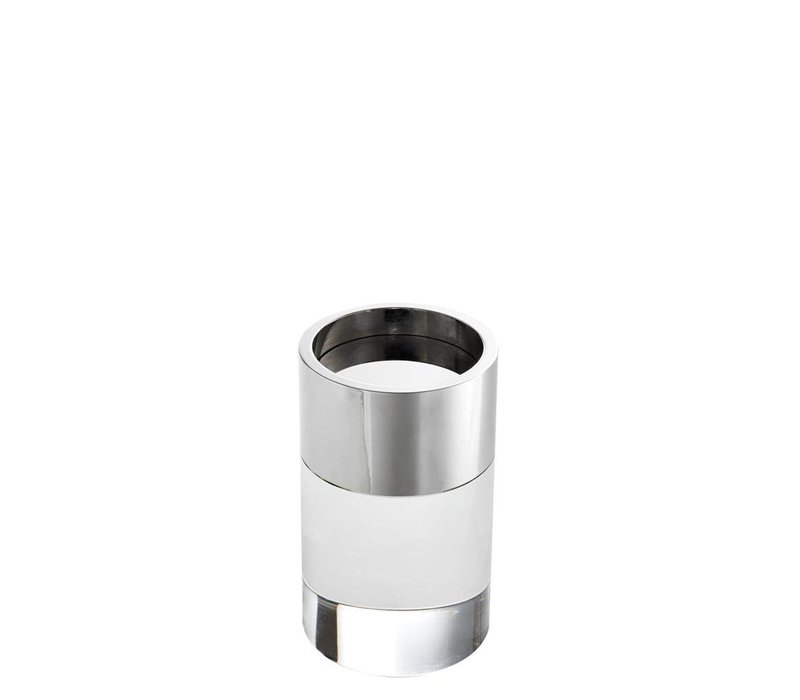 Candle Holder Sierra, with a nickel ring
