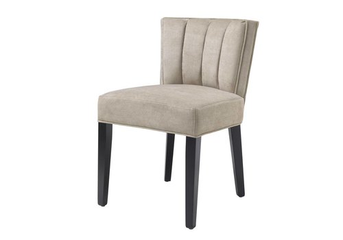 EICHHOLTZ Dining chair - Windhaven Greige velvet
