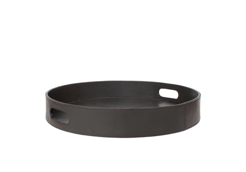 Dome Deco Leather tray round - M
