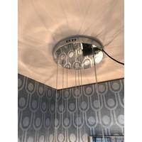 Hanglamp Pendle Glass kleur Taupe, H140 x D35 cm