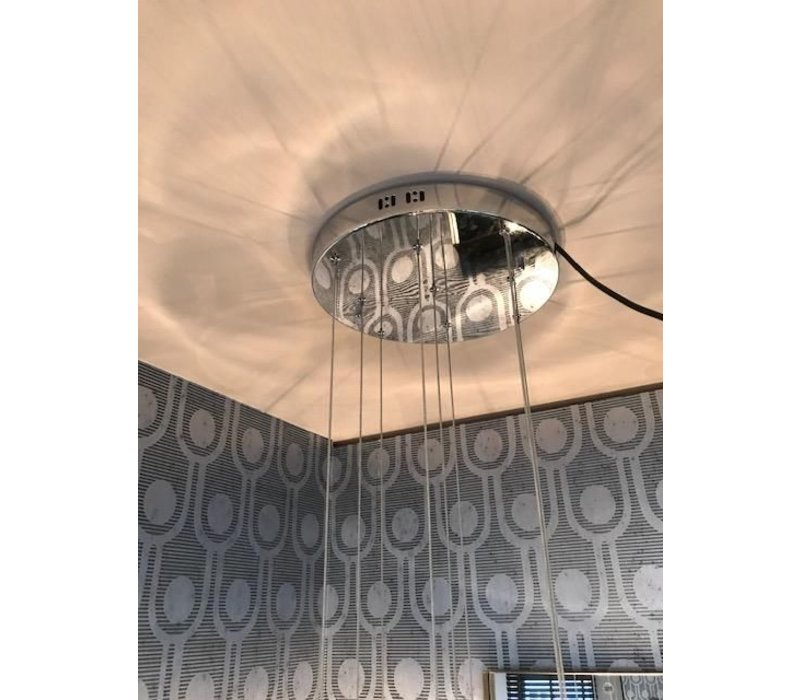 Hanging Lamp 'Pendle Glass' Taupe