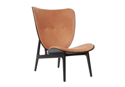 NORR11 Elephant lounge chair - leather / black frame