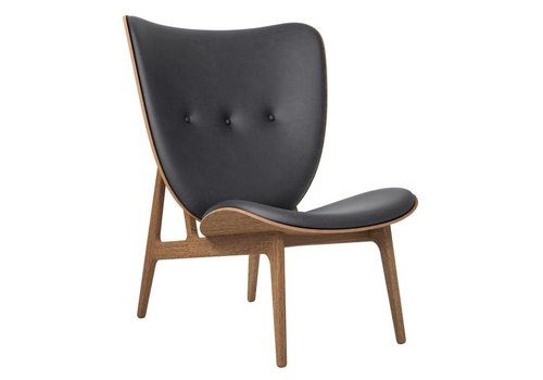 NORR11 Elephant lounge chair - leather / smoked oak frame