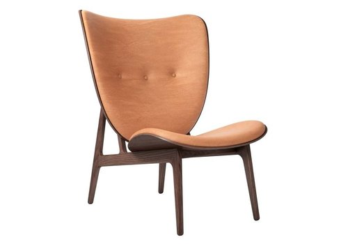 NORR11 Elephant lounge chair - leather / frame dark stained