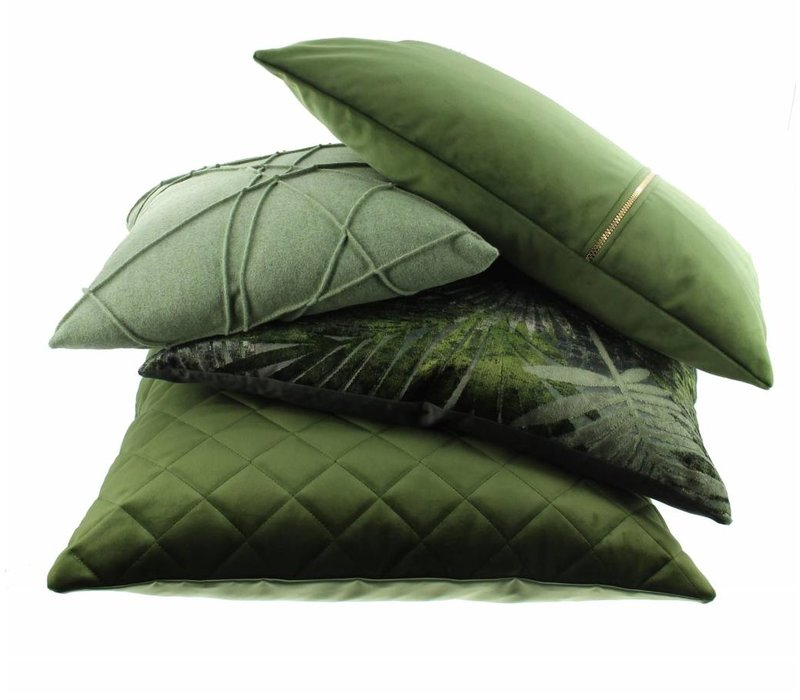 Throw pillow Agostina Color Olive