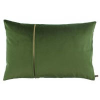Cushion Rosana in color Olive with gold zipper