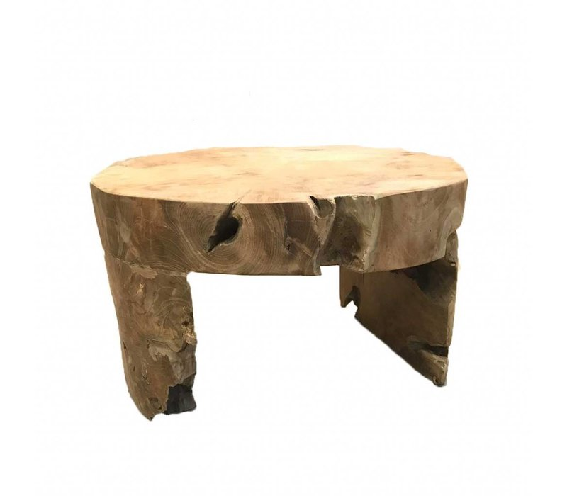 Coffee table Root, solid teak- in one piece