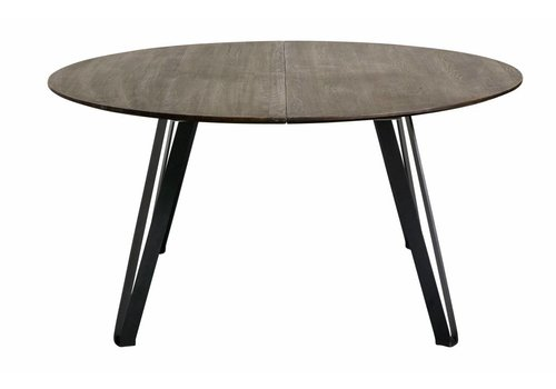 MUUBS Dining table Space Smoked Rond 150