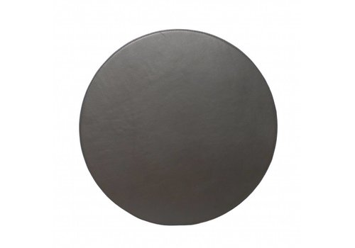 Dome Deco Ronde leren Placemats 'Pewter'- Set van 2
