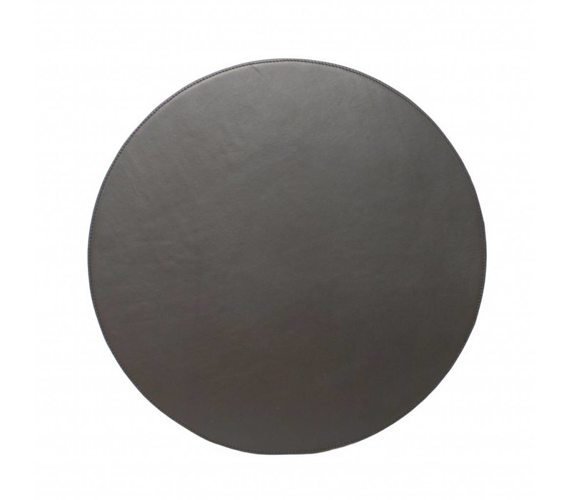 Leather placematis 'Pewter' - Set of 2