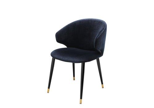 EICHHOLTZ Dining chair Volante - Savona midnight blue