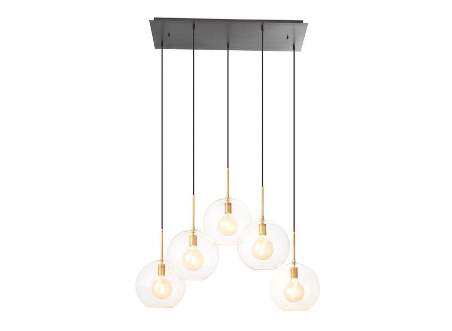 Chandelier Tango met 5 lampen