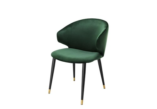 EICHHOLTZ Dining chair Volante - Roche dark green
