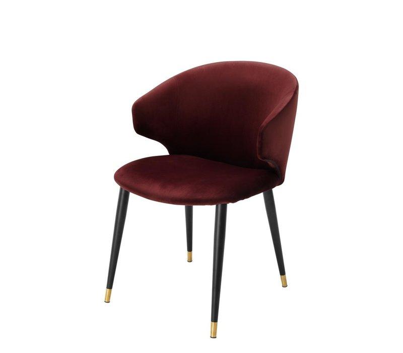 Dining chair 'Volante' - Roche bordeaux