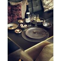 Diner bord 'Metallic' - set van 2 - in de kleur Pewter