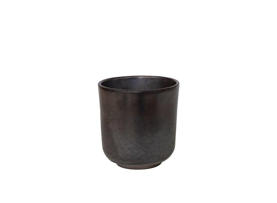 Koffiekop 'Metallic' - set van 2 - in de kleur Pewter