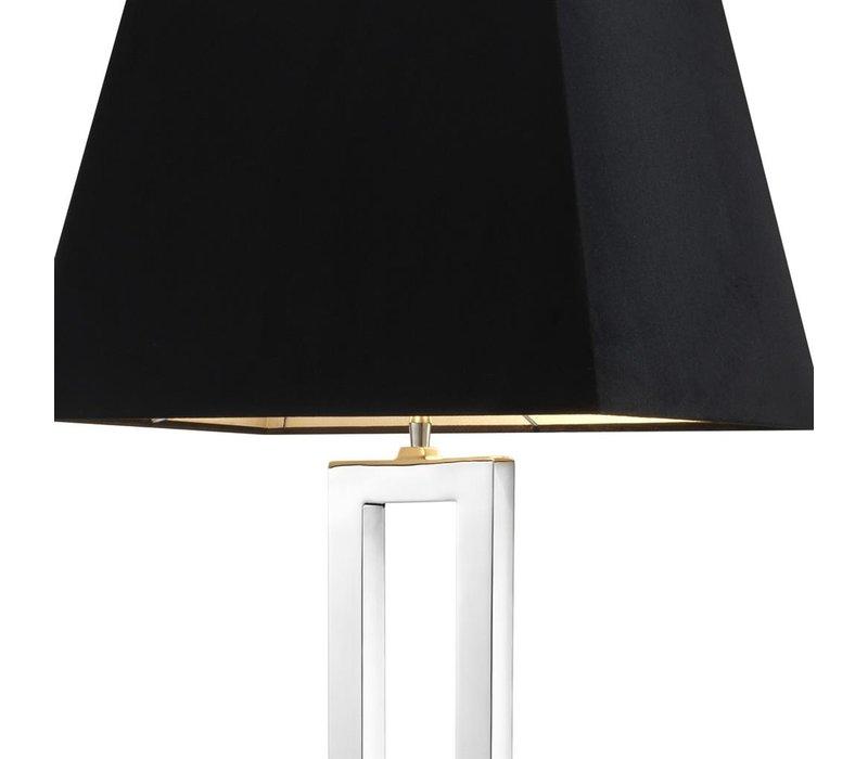 Vloerlamp Arlington met zwarte kap, 130cm hoog