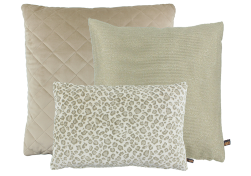 CLAUDI Cushion combination Sand: Agostina, Leopoldo, Diamo